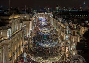Regent Street Christmas Light Switch on